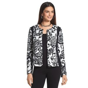Chico's Floral Quilted Pieced Jacket